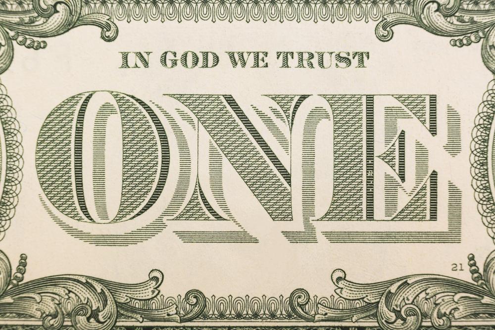 In God We Trust on the dollar bill